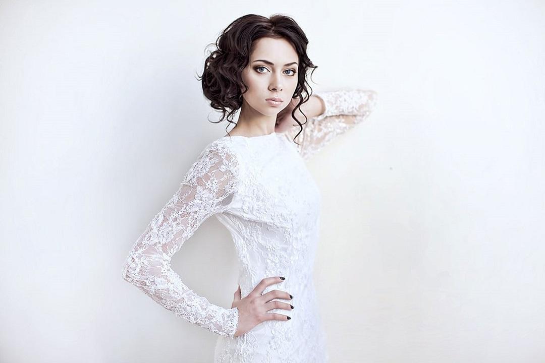 Самбурская в свадебном платье